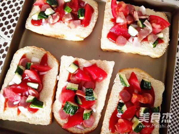 快手早餐——面包披萨的家常做法