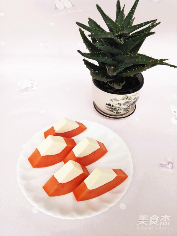 木瓜奶冻成品图