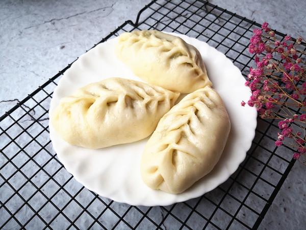 豆角猪肉蒸包成品图