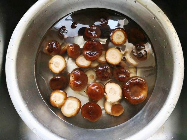 油菜香菇的做法图解