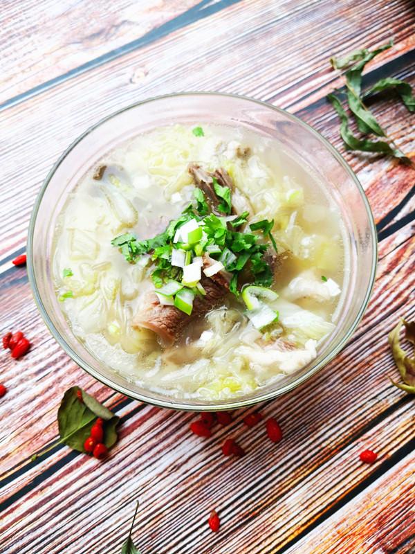 羊肉汤成品图