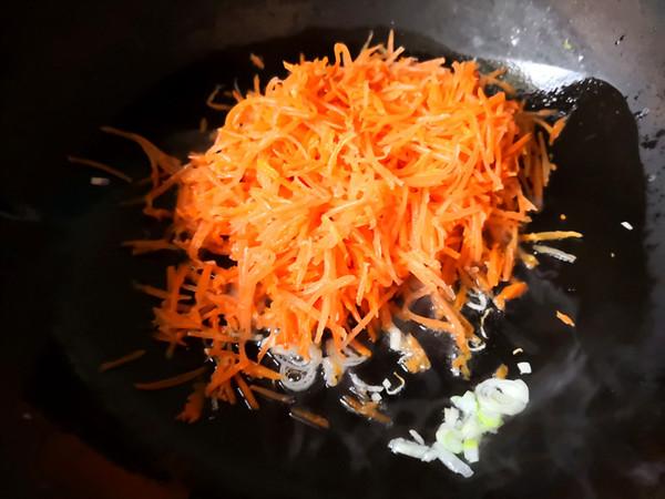 咸胡萝卜炒鸡蛋怎么煮