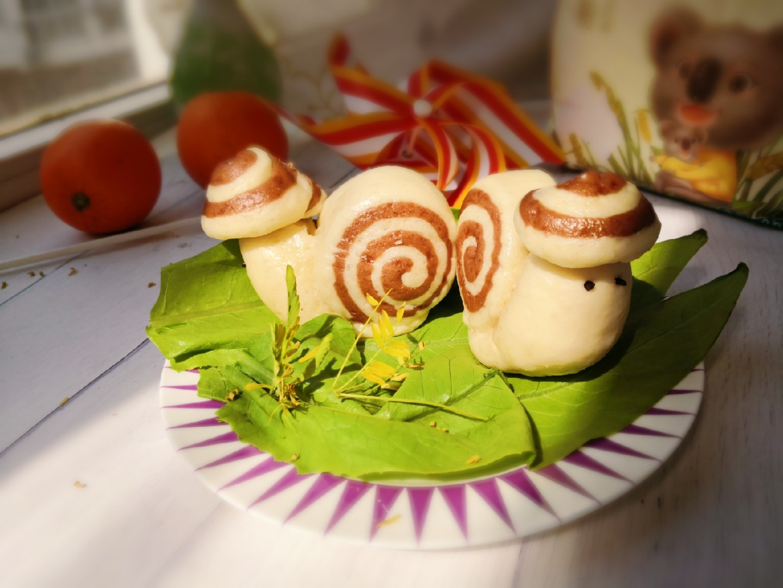 蜗牛馒头成品图