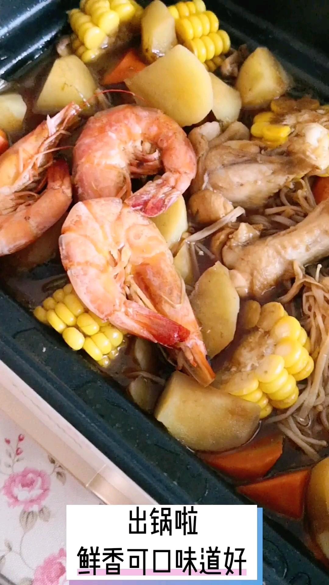 有肉有菜有海鲜,热乎乎满口留香的简单做法