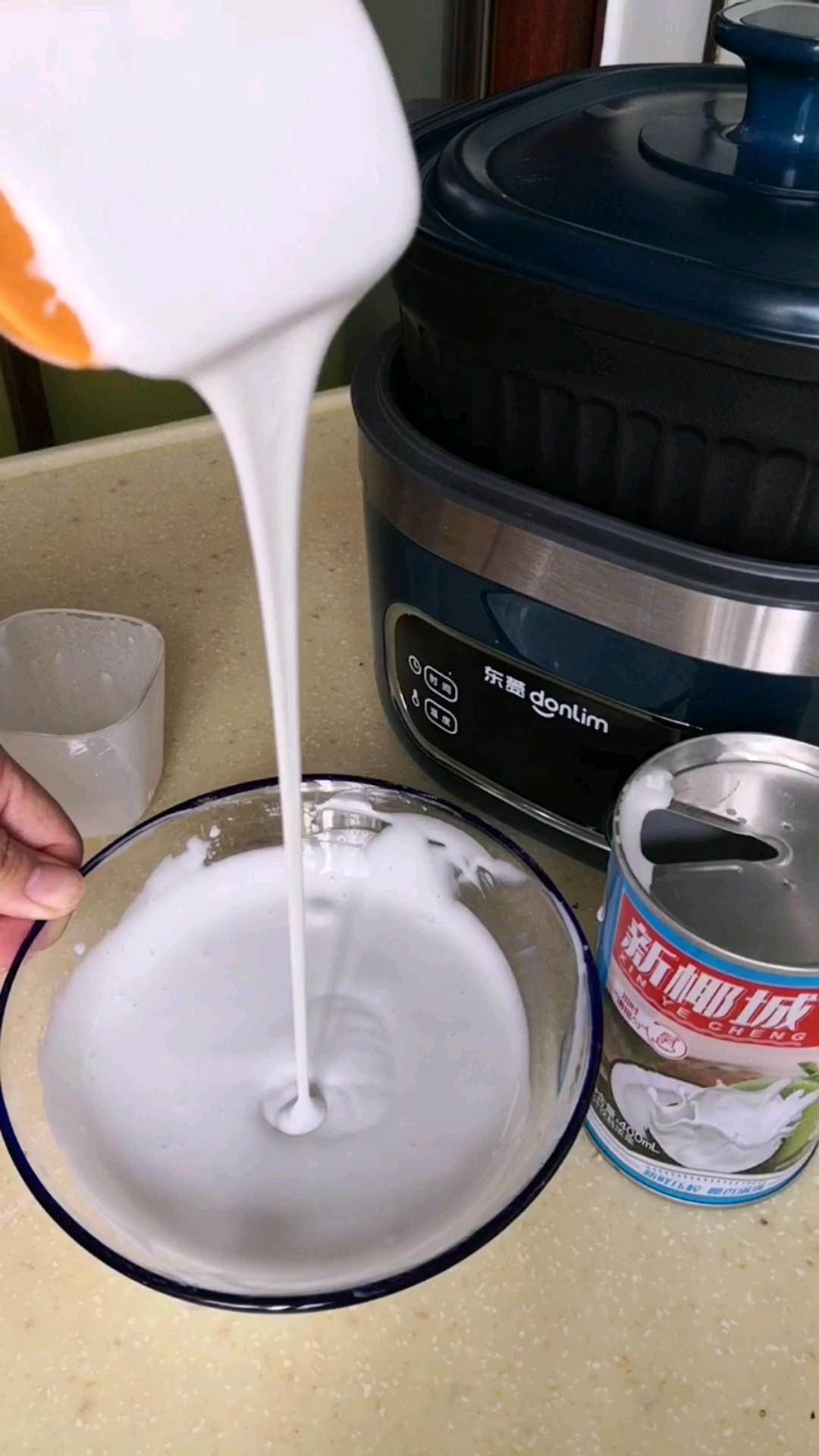 顺滑好吃的椰浆凉粉的做法大全