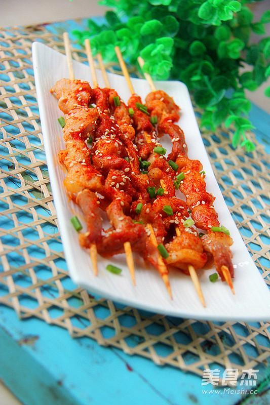 麻香烤肉串成品图