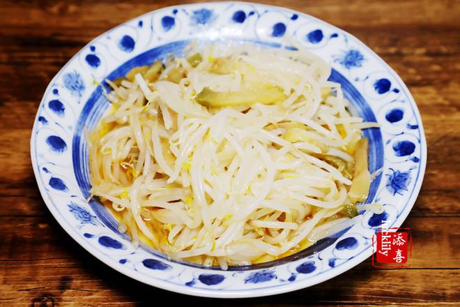 【添喜的厨房】 榨菜炒豆芽的简单做法