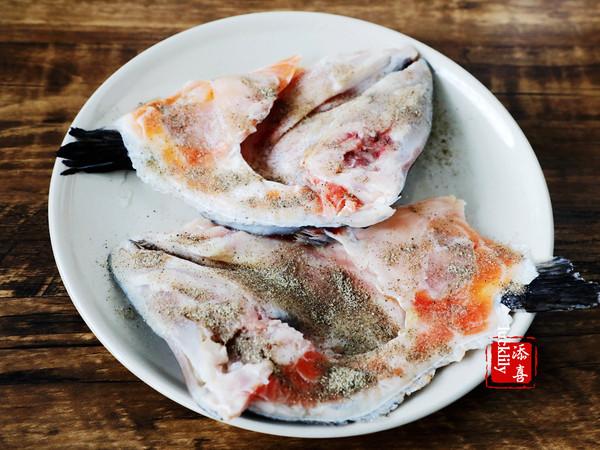 「添喜的厨房」香煎三文鱼头的做法图解