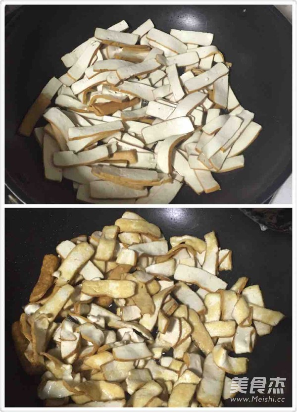 青椒香干的家常做法
