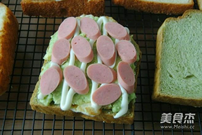 牛油果三明治的步骤