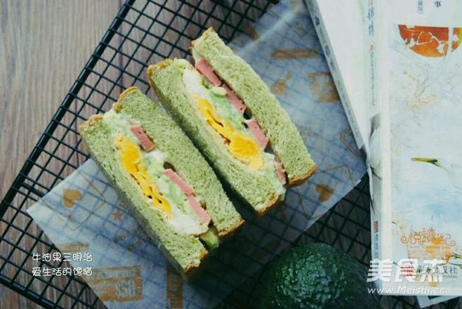 牛油果三明治成品图