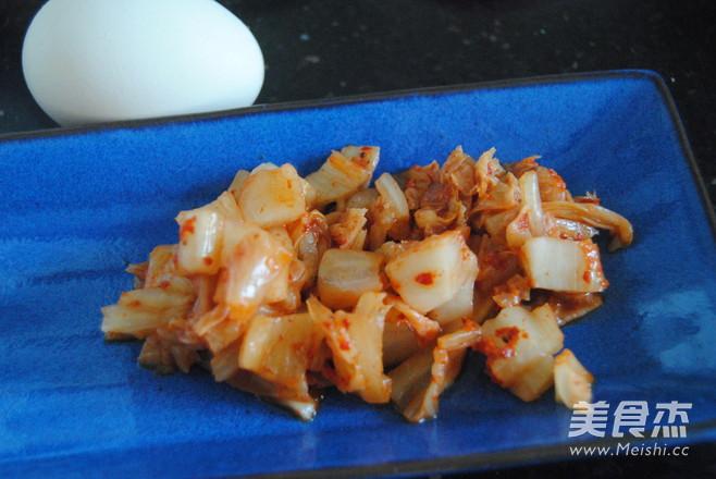 韩式辣白菜蛋炒饭的做法图解