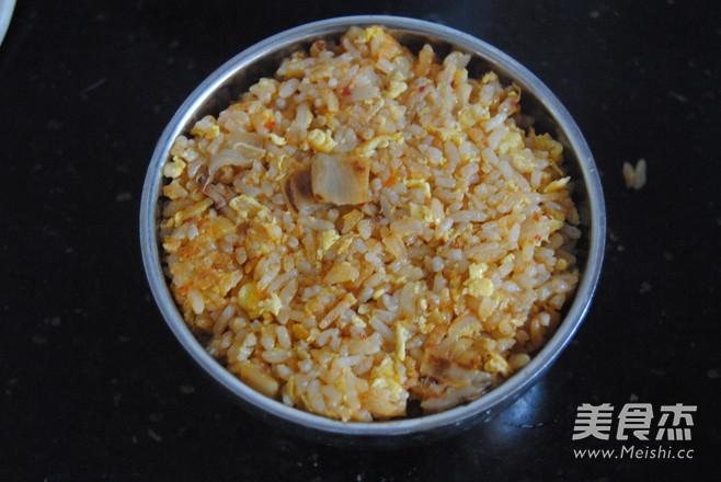 韩式辣白菜蛋炒饭怎么煮