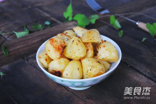 迷迭香辣土豆成品图