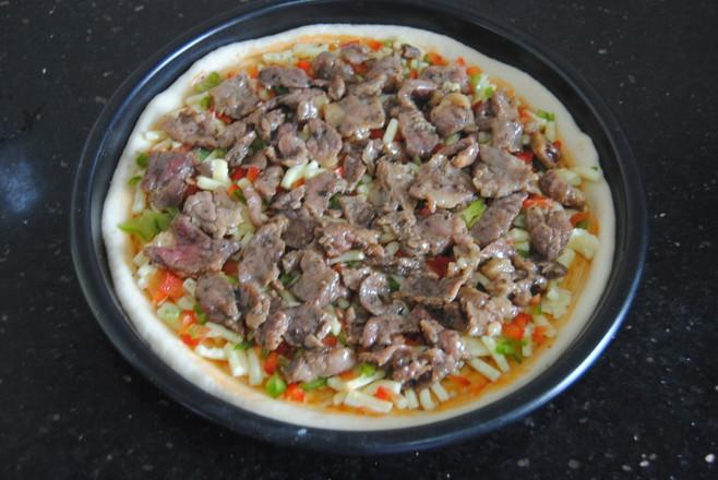 牛肉彩椒披萨的制作方法