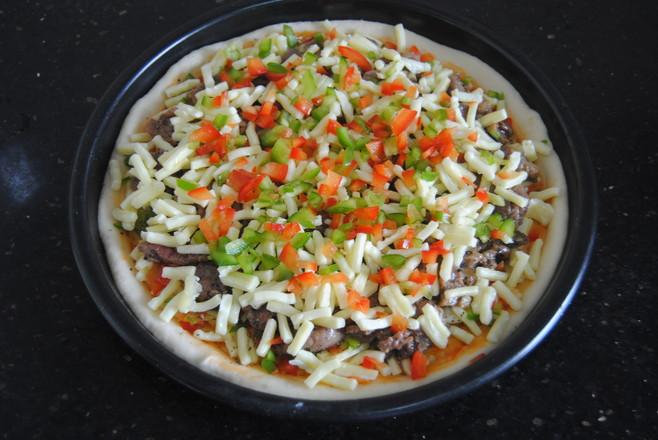 牛肉彩椒披萨的制作大全