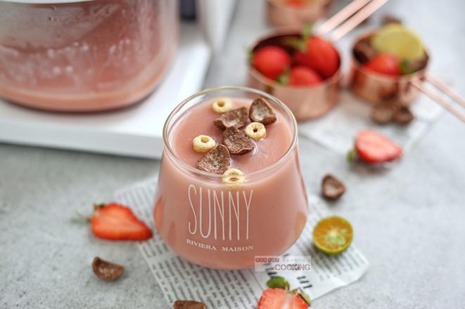 红粉佳人草莓米糊怎么炒