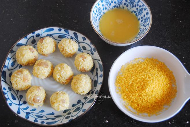 黄金咖喱虾饭团怎么做