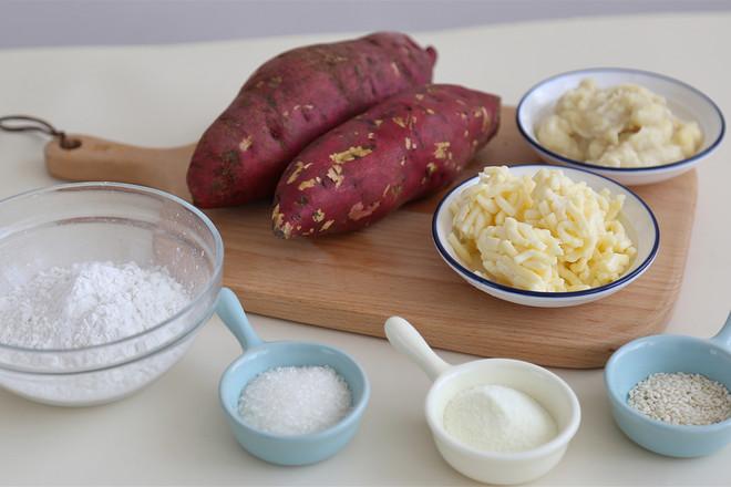 红薯榴莲芝士饼的做法大全
