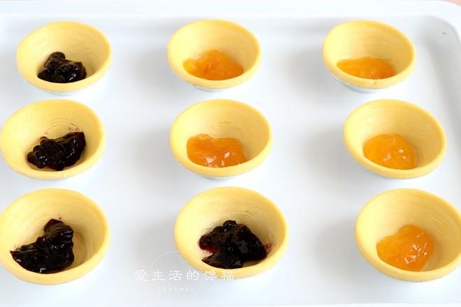 蓝莓芒果双味蛋挞怎么做