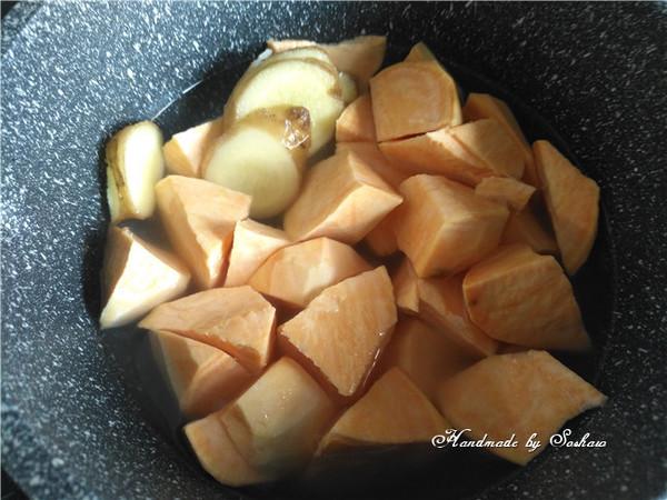 姜汁红薯小圆子的家常做法