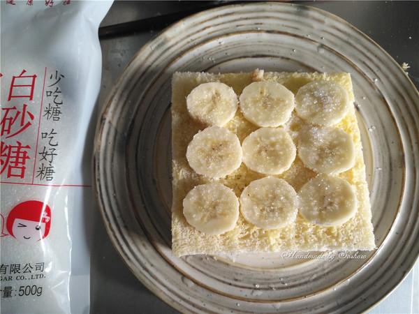 枫糖香蕉吐司片的简单做法