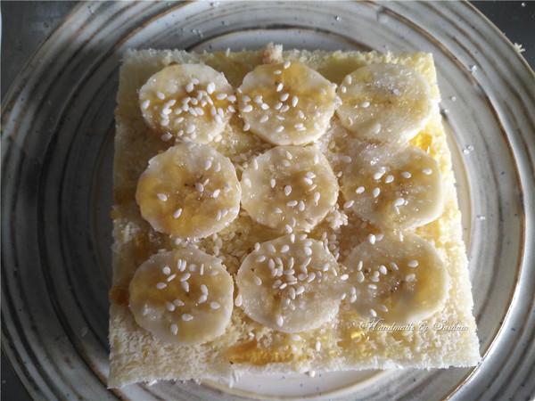 枫糖香蕉吐司片怎么做