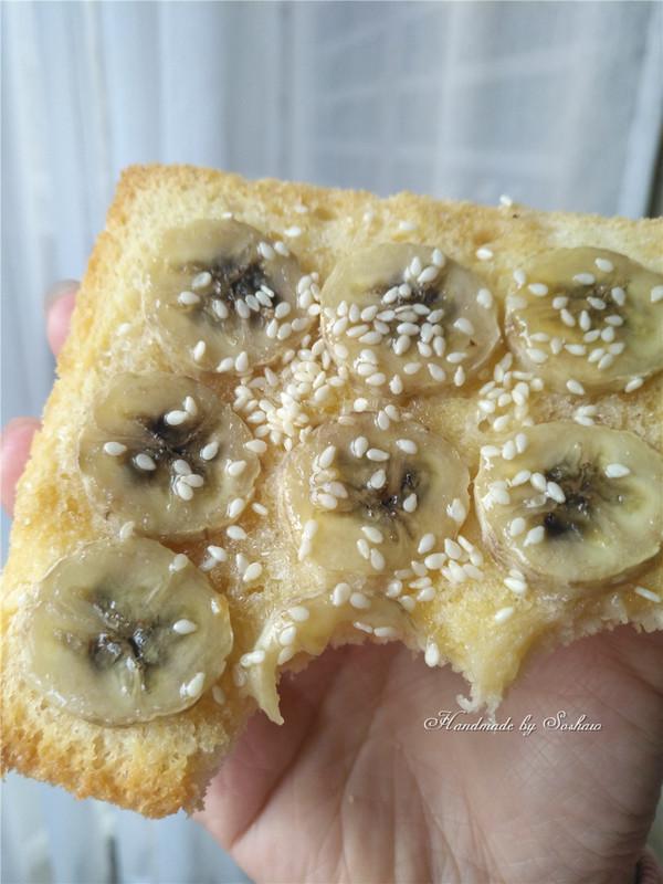 枫糖香蕉吐司片怎么煮
