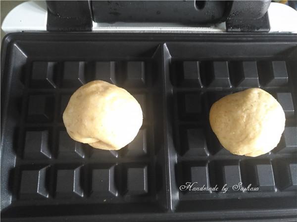 蜜豆全麦华夫饼(酵母版)怎么做