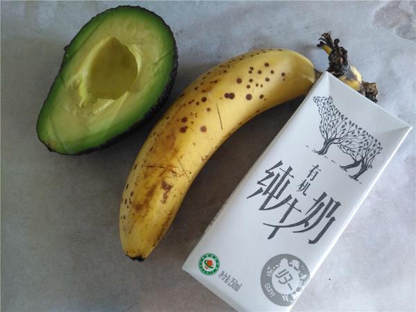 香蕉牛油果牛奶的做法大全