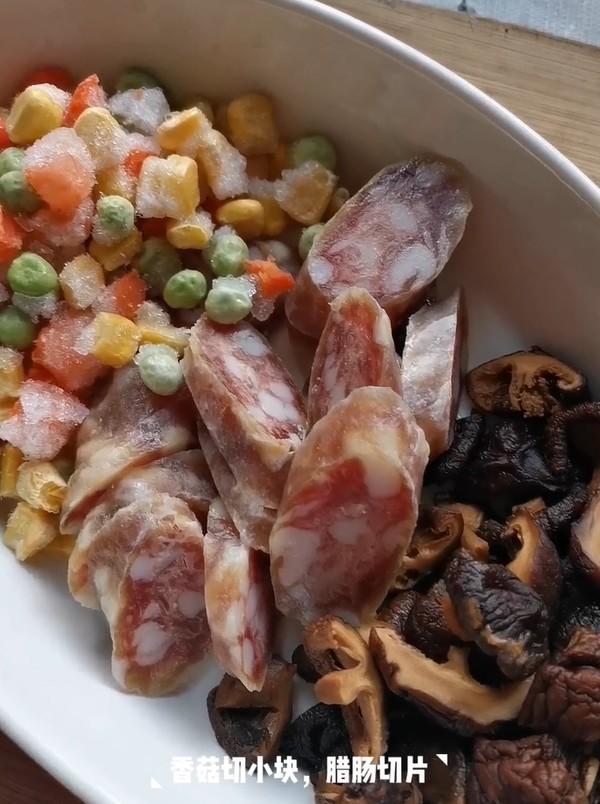 香菇腊肠焖饭的做法图解