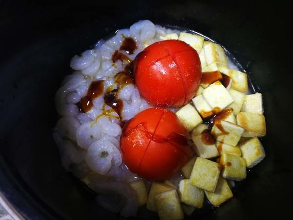 茄汁虾仁豆腐焖饭怎么煮