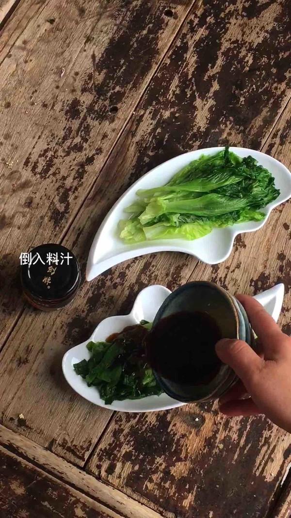 鲍鱼干贝白灼生菜怎么吃