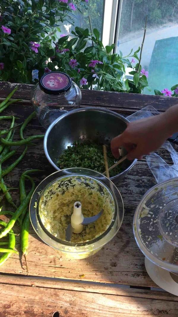 青剁辣椒酱的家常做法
