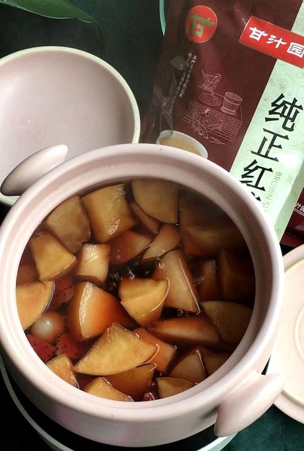 红糖水果茶的简单做法