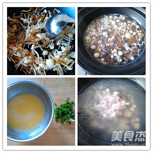 金针菇鸡蛋肉丝汤的做法图解