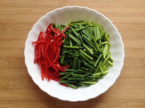 韭菜苔炒肉丝的做法图解