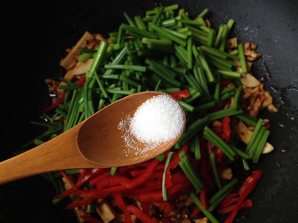 韭菜苔炒肉丝怎么煮