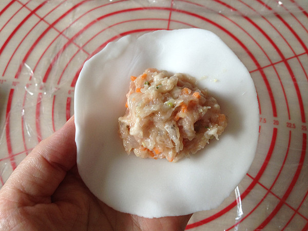 水晶虾仁烧麦怎么煸