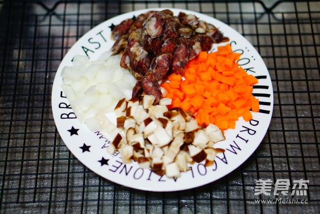 干肠焖饭的简单做法