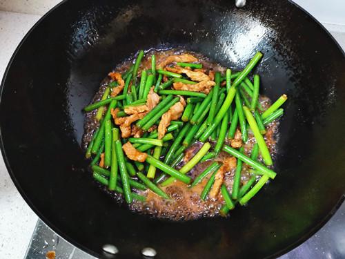 蒜苔肉丝怎么煮
