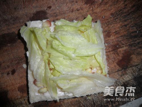 玉米粒三明治怎么做