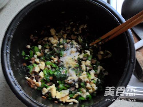香菇青菜馅的步骤