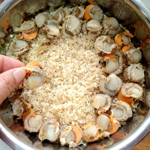扇贝焖饭的简单做法