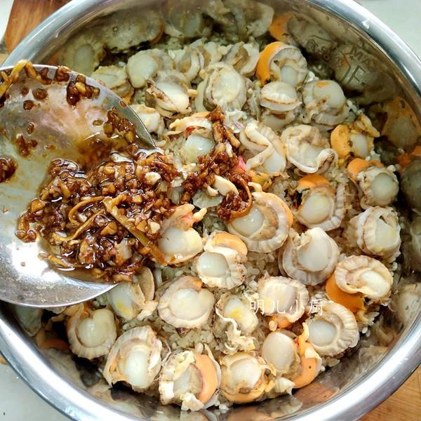 扇贝焖饭怎么吃
