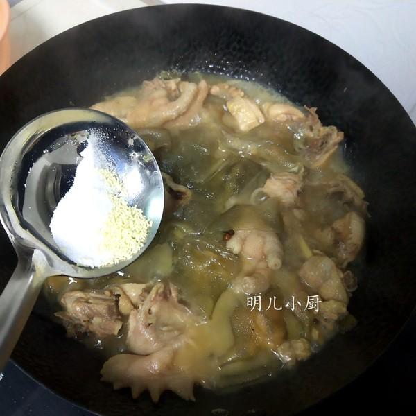 鸡炖粉皮怎么炒