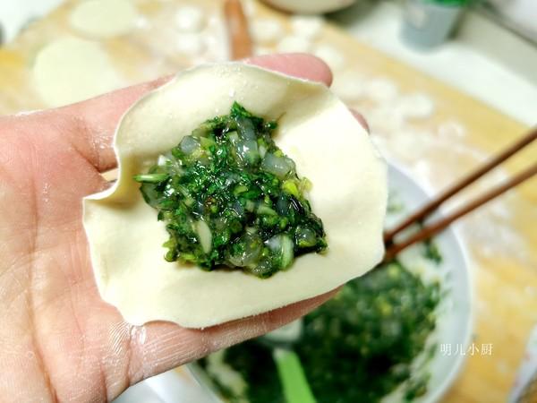 荠菜饺子的步骤