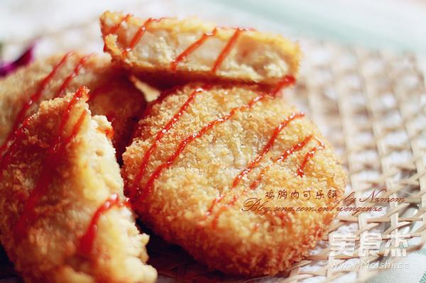 鸡胸肉可乐饼成品图
