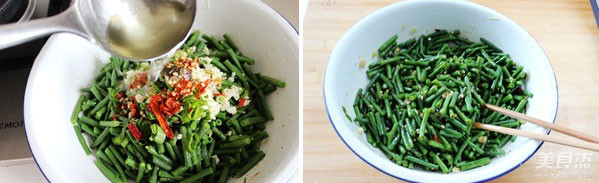 炝拌豇豆的简单做法