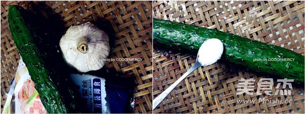 凉拌黄瓜海蜇皮的步骤